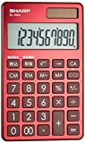 Sharp notebook type calculator luxury mirror surface aluminum panel adopted Red system a sense of EL-VW31-RX
