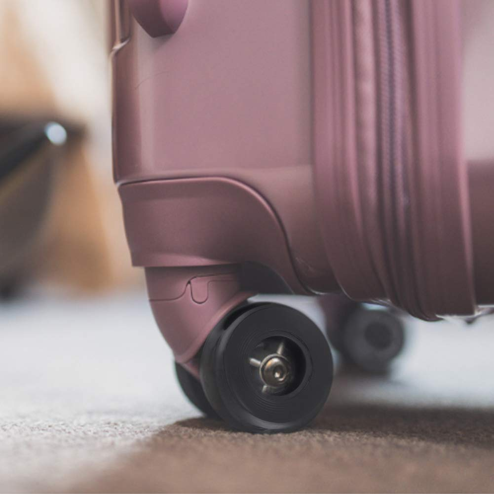 Confezione da 2 OD 50mm Rotelle per Valigia Skateboard Kit di Riparazione Trolley Ruote di Ricambio in Gomma con Viti Assi del Cuscinetto Chiave