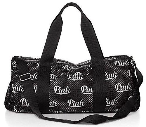 Victoria's Secret PINK Black Monogram Duffle Blag