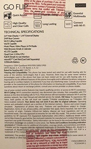 Alcatel Go Flip 4GB 4044W Blue - T-Mobile: Certified Refurbished by Alcatel (Image #2)