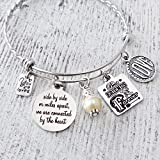 Friendship Gifts, Side by Side or Miles Apart Friends, Best Friends are Forever Charm Bangle...