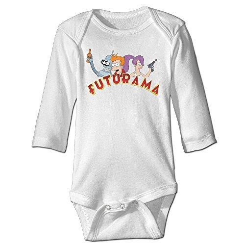 Futurama Logo Characters Customed Baby Unisex Jumpsuit Long Sleeve Cotton