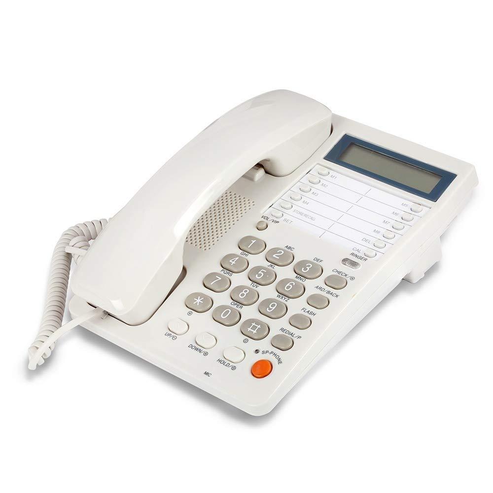 White Caller ID Phone Wall Desk Speaker Memory
