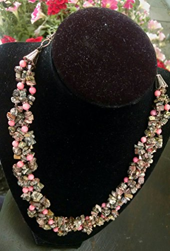 Coral statement necklace and cluster earring set ()