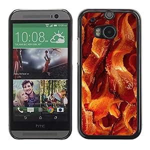 TopCaseStore / la caja del caucho duro de la cubierta de protección de la piel - Meat Crispy Brown Food - HTC One M8