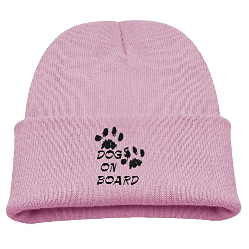 Wooly Bear Dog Costume (BaPaLa Children's Dog Print On Board Skull Cap Beanie Soft Winter Knitted Hat)