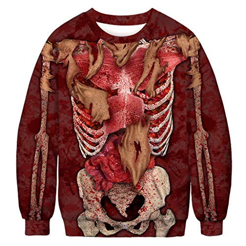 Zackate Unisex Ugly Scary Halloween 3D Print Party Pullover Mens Womens Long Sleeve Hoodie Top Sweatshirts (Best Selling Football Jersey 2019)
