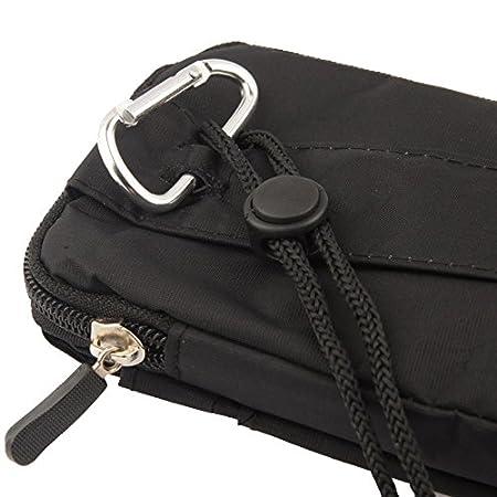 16 x 9.5 cm - Negra Funda Multiusos Universal con Varios Compartimentos para Cinturon y Mosqueton para NGM Harley-Davidson 2014 DFV mobile
