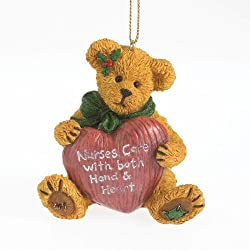 Boyds Holiday Recipient Bearstone Ornament - Nurse Cara
