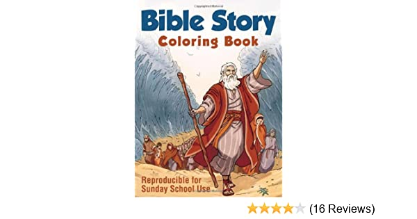 Bible Story Coloring Book Compiled By Barbour Staff 9781616269340 Amazon Com Books