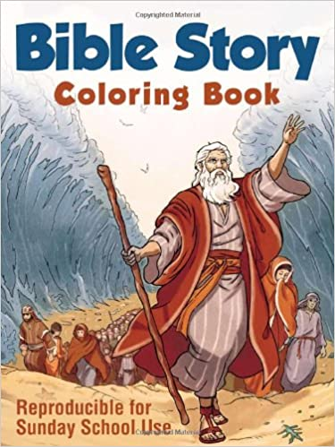 Bible Story Coloring Book Compiled By Barbour Staff 9781616269340 Amazon Books
