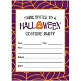 Halloween Costume Party Invites & Envelopes (Pack of 25) Fun Dress Up Party Large Blank 5x7'' Fill in Classic Kids Adult Teen Parties Excellent Value Invitations