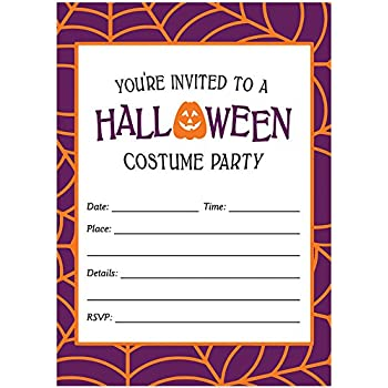 Halloween Costume Party Invites Envelopes Pack Of 25 Fun Dress Up Large
