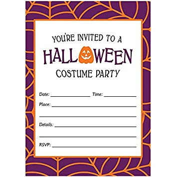 amazon com halloween costume party invites envelopes pack of 50