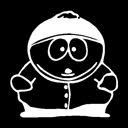 South Park Cartman Decal Vinyl Sticker|Cars Trucks Vans Walls Laptop| White |5.5 x 5 in|LLI436