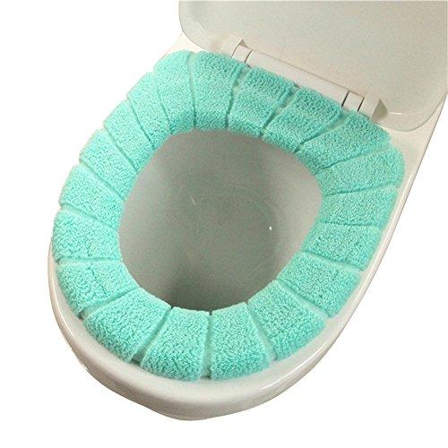WC-Sitzbezüge Toilettendeckel Sitzbezüge Badezimmer Waschbar Toilettensitzabdeckung Closes Deckel Top-Wärmer-Tuch-Pads (Grün)