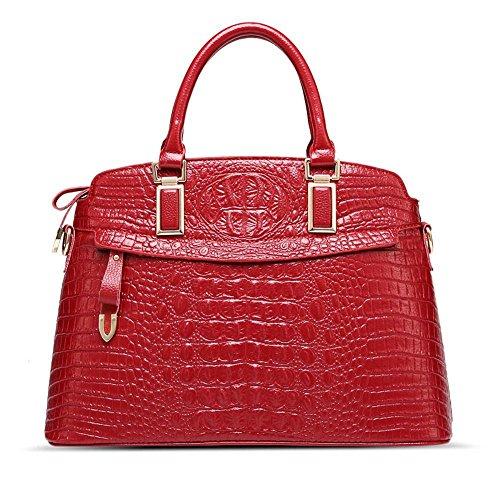 Aoligei Coquille de sac imitation cuir femme sac de mires de crocodile européens et américains de sacs à main B