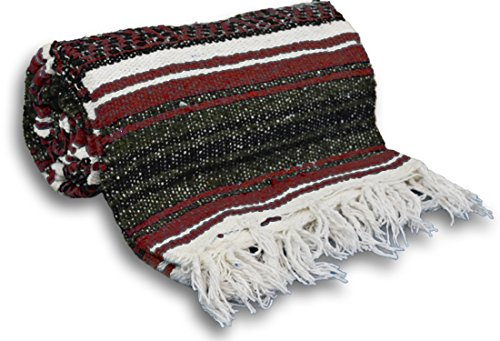 YogaAccessories Traditional Mexican Yoga Blanket ( Gray)