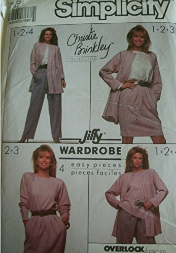- Misses Top, Pants, Skirt and Unlined Flared Jacket Size 6 Vintage Simplicity Wardrobe Pattern 8904 Christie Brinkley Collection