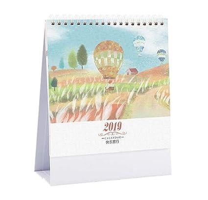 Calendario mensual 2018-2019, semanal, diario, cuaderno de mesa ...