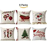 TOOL GADGET 6 Packs Merry Christmas Decorative Pillows Covers,...