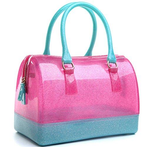 Cuscino di a donna Borse Color Gelatina forma Nero mano Cristallo Dentellare Donna Candy Honeymall Oro trasparente borse Impermeabile a x7OqHHwZ