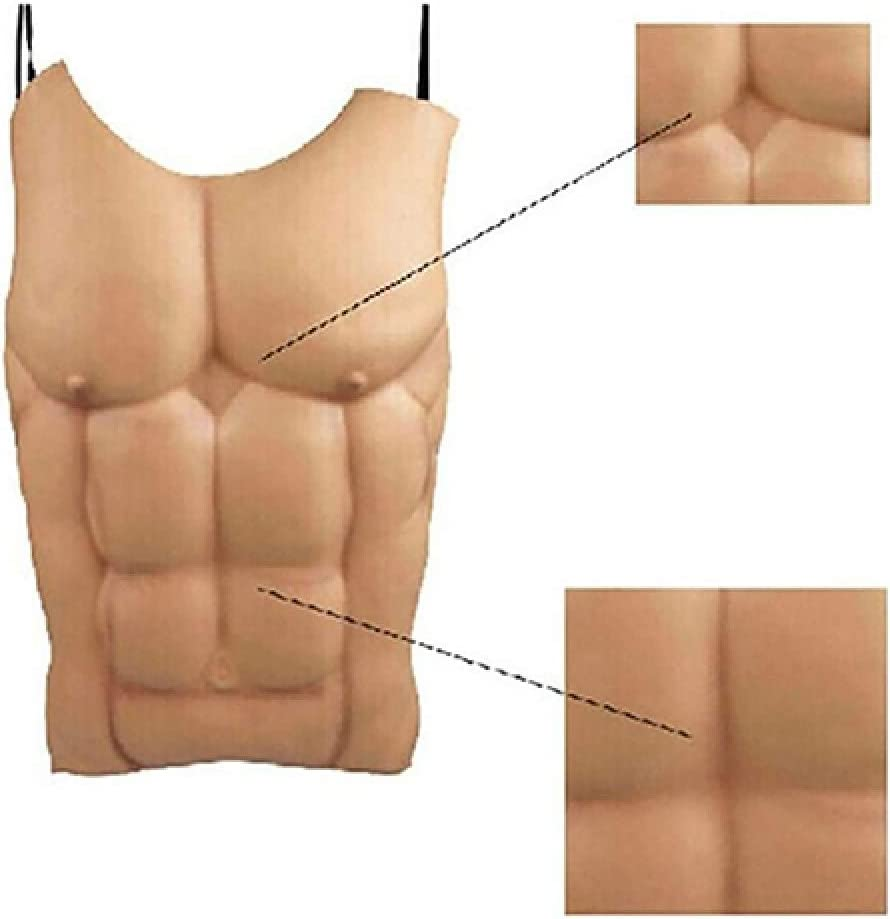 Halloween Fake Skin Muscle Chest Eva Fancy Funny Cosplay Prop Party Costume UK