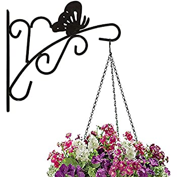 Amagabeli Hanging Plants Bracket 11u0027u0027 Wall Planter Hook Flower Pot Bird  Feeder Wind Chime