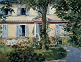Oil Painting 'Edouard Manet-The House At Rueil,1882', 30 x 39 inch / 76 x 99 cm , on High Definition HD canvas prints is for Gifts And Foyer, Kitchen And Study Room Decoration, for life