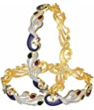 YouBella Dancing Peacock American Diamond Bangles For Women