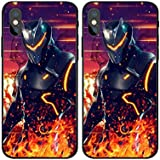 1 Piece Black Fortnite Omega iPhone 7 Plus Case, Red Battle Royale iPhone 8 Plus