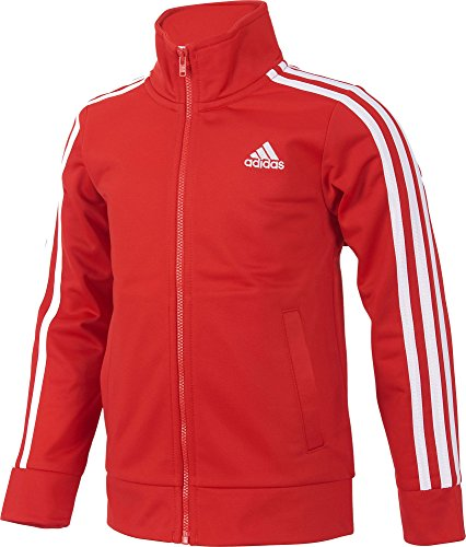 Adidas Boys' Warm Up Tricot Jacket (Red/White, M) ()