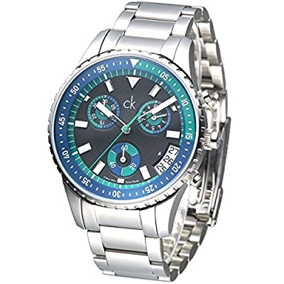cK Calvin Klein K3217378 Men's Blue Chronograph Watch