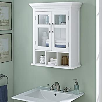 Perfect This Item WYNDENHALL Hayes Two Door Bathroom Wall Cabinet With Cubbies In  White