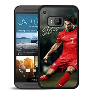 Soccer Player Cristiano Ronaldo(1) Black HTC ONE M9 Screen Phone Case High Quality Handmade Cover