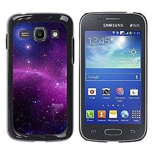 Espíritus de las Estrellas - Metal de aluminio y de plástico duro Caja del teléfono - Negro - Samsung Galaxy Ace 3