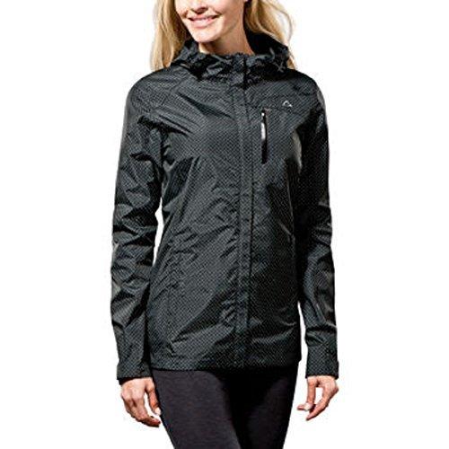 Paradox Waterproof & Breathable Women's Rain Jacket Black Dots Large