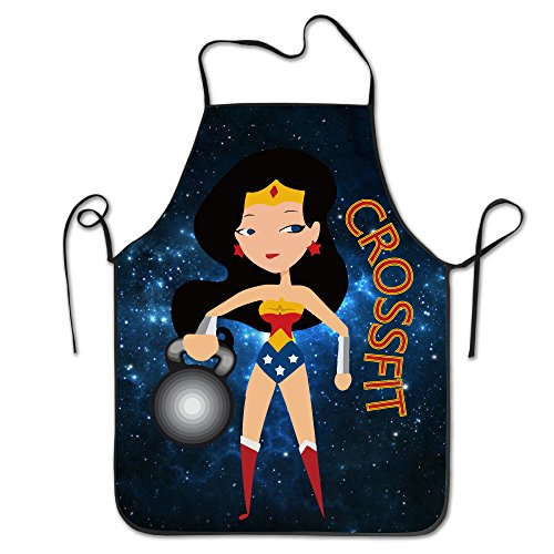 Your Busted Costume (Unisex Wonder Woman CrossFit Kitchen Cooking Grilling Apron Neck Straps Without Pockets Adjustable)