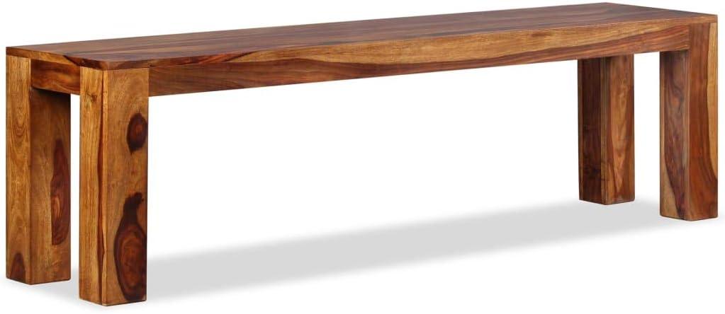vidaXL Banco de madera maciza de sheesham 160x35x45 cm