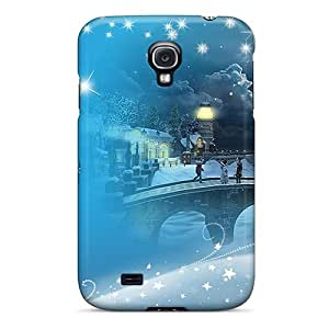 For Galaxy S4 Premium Tpu Case Cover Country Christmas Chapel Protective Case by mcsharks
