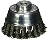Firepower 1423-3159 Wire Cup Type Crimped Carbon Steel Wire Brush with 3-Inch Cup Diameter and 3/8-Inch NF Threaded Arbor