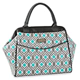 Sydney Leaf Print Insulated Lunch Tote in Gray