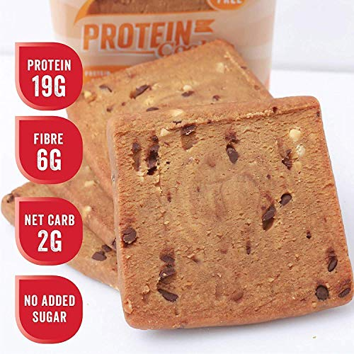 Justines Peanut Butter Cookies with Choco Chips, Soft Baked High Protein Healthy Snack, Ultra Low Carb, No Added Sugar, Gluten Free, Wheat Free, Made in New Zealand (2.25 oz, 12 Pack)