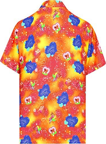 Aloha De Des Classique Régulier Poche 5xl Hawaïen Bouton La Hommes Bas aa206 Leela Manches Chemise Avant Courtes Valentin Le Ajustement Vers Bleu Orange Xs 5pqOxtv