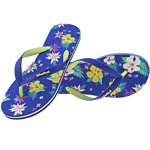 Beach 6 Toe Beach EU 39 40 Flops Ladies UK Flip Blue Floral Post Bayfront Sandals Urban 7wHFdq7