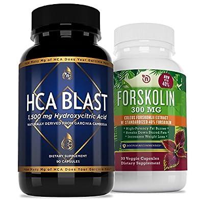 NutriGood Labs HCA Blast 1500mg and Garcinia Forskolin Weight Loss Supplements