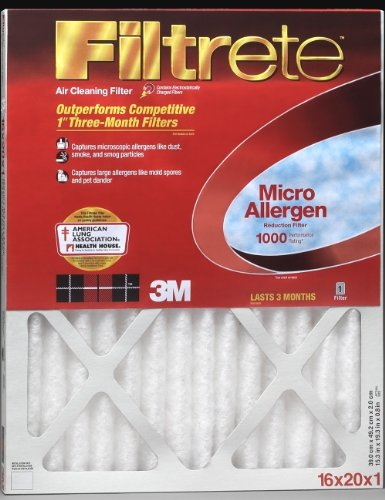 3M Filtrete MA12X30 12x30x1 - 11.7 x 29.7 Filtrete 1000 Filter by 3M Pack of - 2