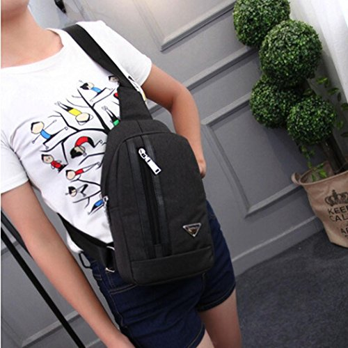 Bag By Sports Bag Canvas Unisex Black black Outdoor Crossbody Imbalance Bag Morwind 7rx6O7waq