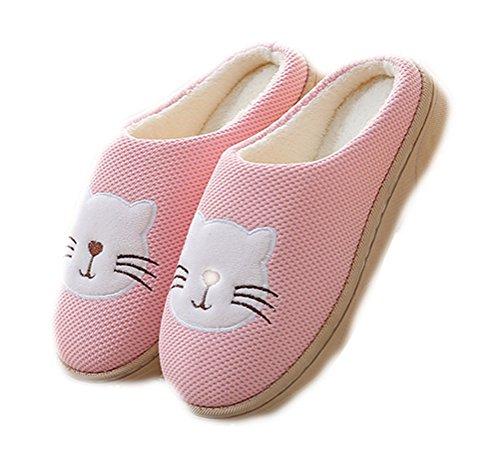 Imprimées Auspicious Mignonnes Doublées Rose Molletonnées En Beginning Par Chaussures Unisexe Peluche Confortables Chat qTqxF4wf