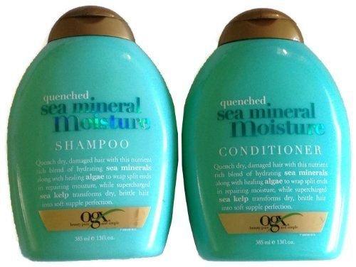 Organix Bundle: Shampoo and Conditioner, Quenched Sea Minera